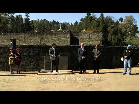 Abu Metha Press secretary to CM at Kohima War Cemetery