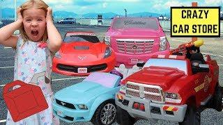 Crazy Car Store ~ Maya Goes Car Shopping