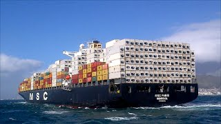 BOARDING LARGE CONTAINER SHIPS IN ROUGH SEAS