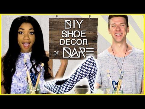 DIY SHOES?! | DI-Dare w/ Teala Dunn & Collins Key