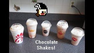 Fast Food Chocolate Shake Taste Test!