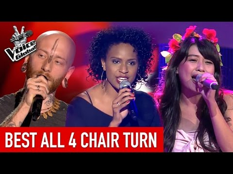 The Voice | Best 'ALL 4-CHAIR' turn arounds [PART 2]