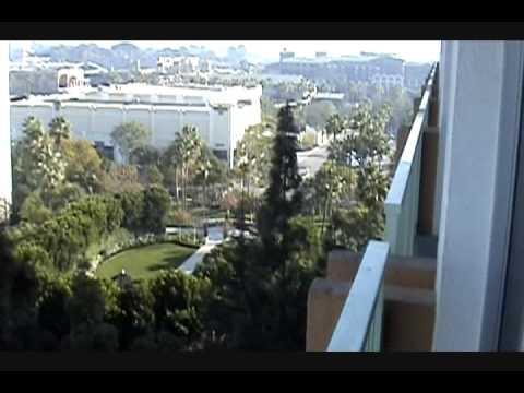The view from our Disneyland Hotel room, post-Disneyland Resort renovation.