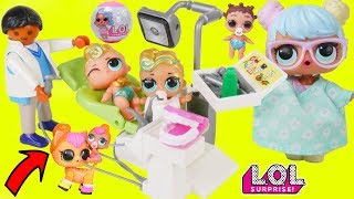 Big Luxe Gets Lil Brother at Dentist with LOL Surprise Dolls Boy