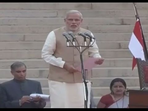 Prime Minister Narendra Modi takes charge - Swearing In Ceremony With Subtitles