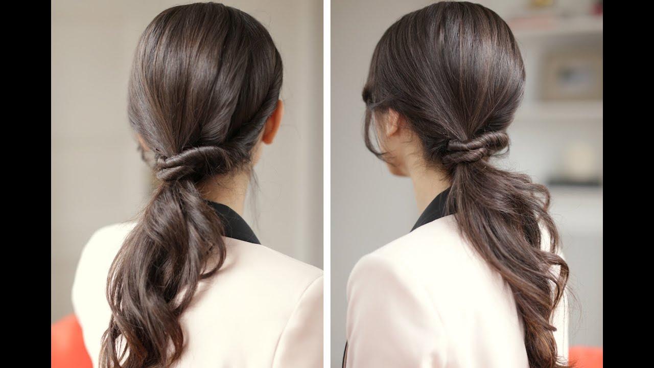 Причёски с хвостом на длинные