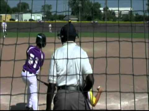 12 Year Old Markus Bracey Pitching in 2010 Omaha Nebraska Tournament