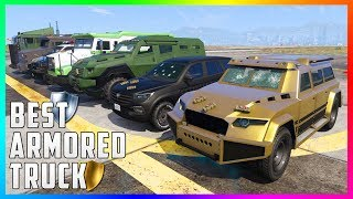 GTA 5 - Which Is The Best Armored Truck In GTA Online? - Insurgent VS Nightshark VS Stockade & MORE!