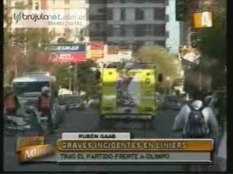 Choque de hinchadas a la salida del partido entre Olimpo y Liniers