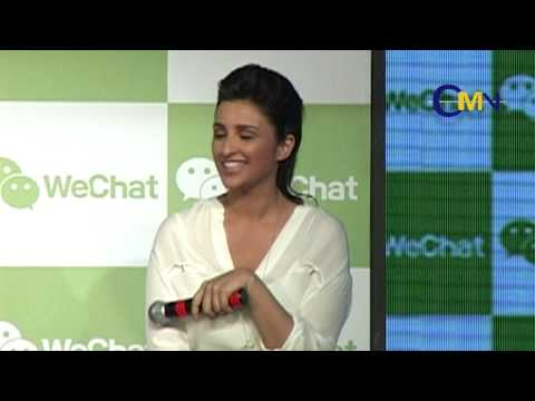 Parineeti Chopra & Varun Dhawan Launch Tencent's WeChat Messenger