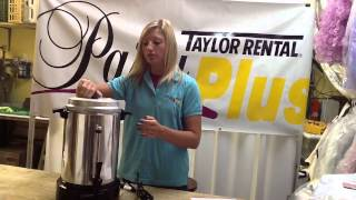60 Cup Coffee Maker Rental Tutorial