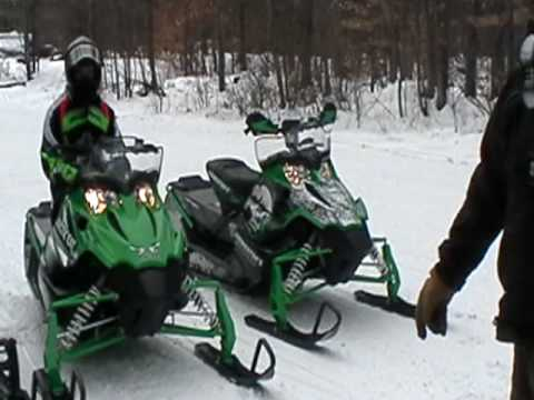 you tube viewer request,2010 arctic cat f6 snopro against a stock snopro 500