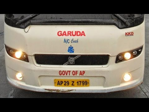 APSRTC Garuda Volvo 9400 B7R bus/Short Film/Hyderabad BHEL/INDIA