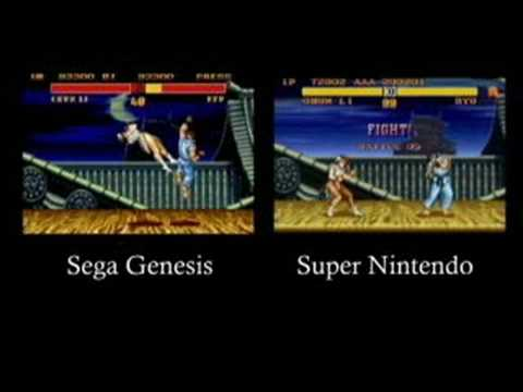 Classic Game Room - SEGA vs. NINTENDO STREET FIGHTER 2 review part 1