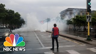 Tear Gas Fired At Protests Over George Floyd's In-Custody Death | NBC News NOW