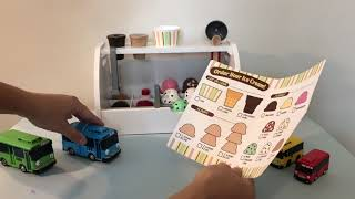 Ice Cream Playset Toy for Kids with Tayo and Friends