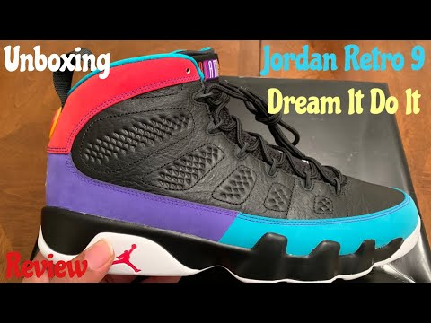 Early Look Jordan Retro 9 Dream It Do It aka Martin Lawrence Unboxing & Detailed Review w/McFly KOF.