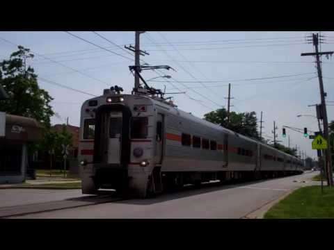South Shore Street Running In Michigan City Indiana