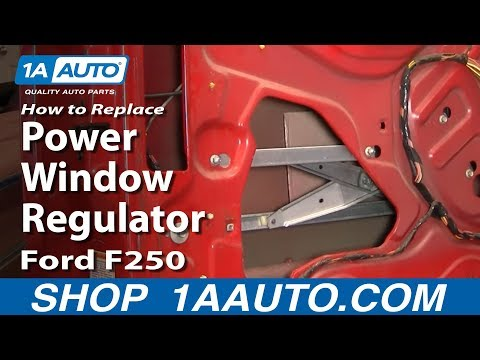 How to Install Replace Power Window Regulator 99-07 Ford F250 F350 Super Duty 1AAuto.com