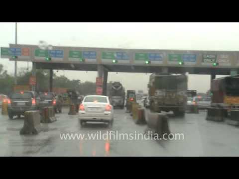 Toll plaza on NH8 Gurgaon-Jaipur expressway
