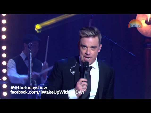 Robbie Williams on TODAY Swing Supreme