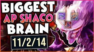 The BIGGEST AP Shaco Brain!