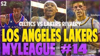 INTENSE RIVALRY GAME AGAINST CELTICS! NBA 2K17 LA LAKERS MYGM #14