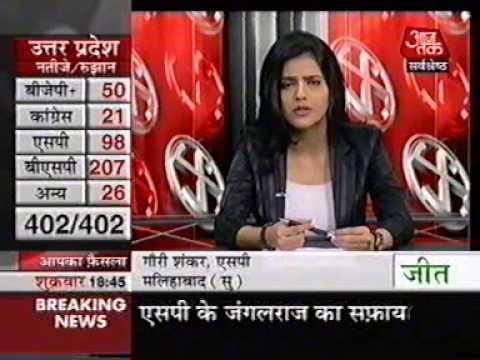 Film On Mayawati (Interview of Kailash Masoom at Aaj Tak tv channel )