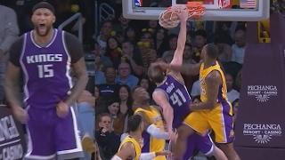 DeMarcus Cousins Game Winner! Koufos Huge Slam! Kings vs Lakers