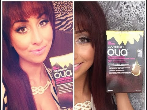 How To: Dye Your Hair Auburn +Review/First Impression Garnier Olia NEW!!!