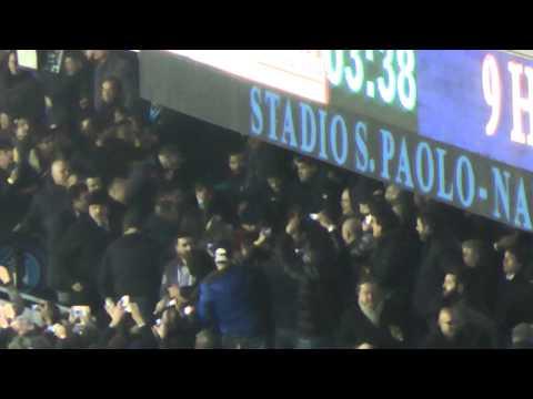 Napoli-Roma 3-0 12-02-2014 Gol Higuain Live in HD dalla Curva B