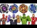 Beyblade Super Zetsu B 127 128 Appeared Marvel Avengers Hulk Iron Man Vs Thanos DuDuPopTOY mp3