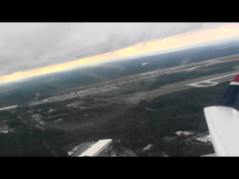 Parallel Takeoff!!!  Awesome HD Bombardier CRJ-200 Departure From Charlotte On US Airways Express!!!