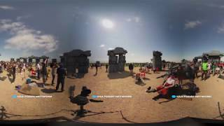 Stand in crazy 'Carhenge' during total eclipse in 360