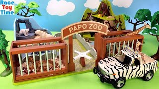 Animal Zoo Papo Playset Plus Fun Wildlife Animals Toys For Kids