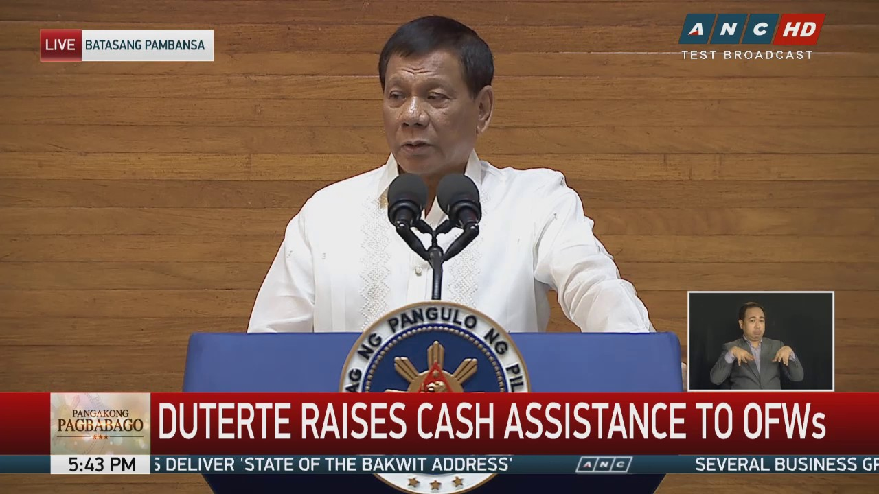 Duterte increases OFW assistance funds to about P1-B