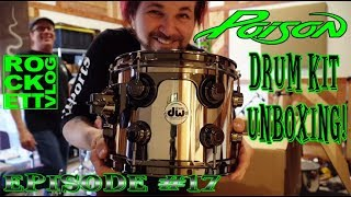 Poison Tour Drum Kit Unboxing! - Rockett Vlog #17