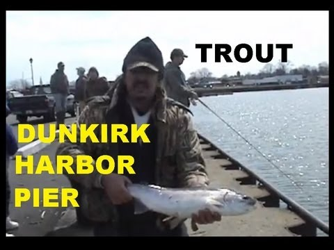 DUNKIRK HARBOR PIER FISHING RAINBOW TROUT