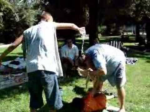 Water fight turns into judo match FUNNY Image 1