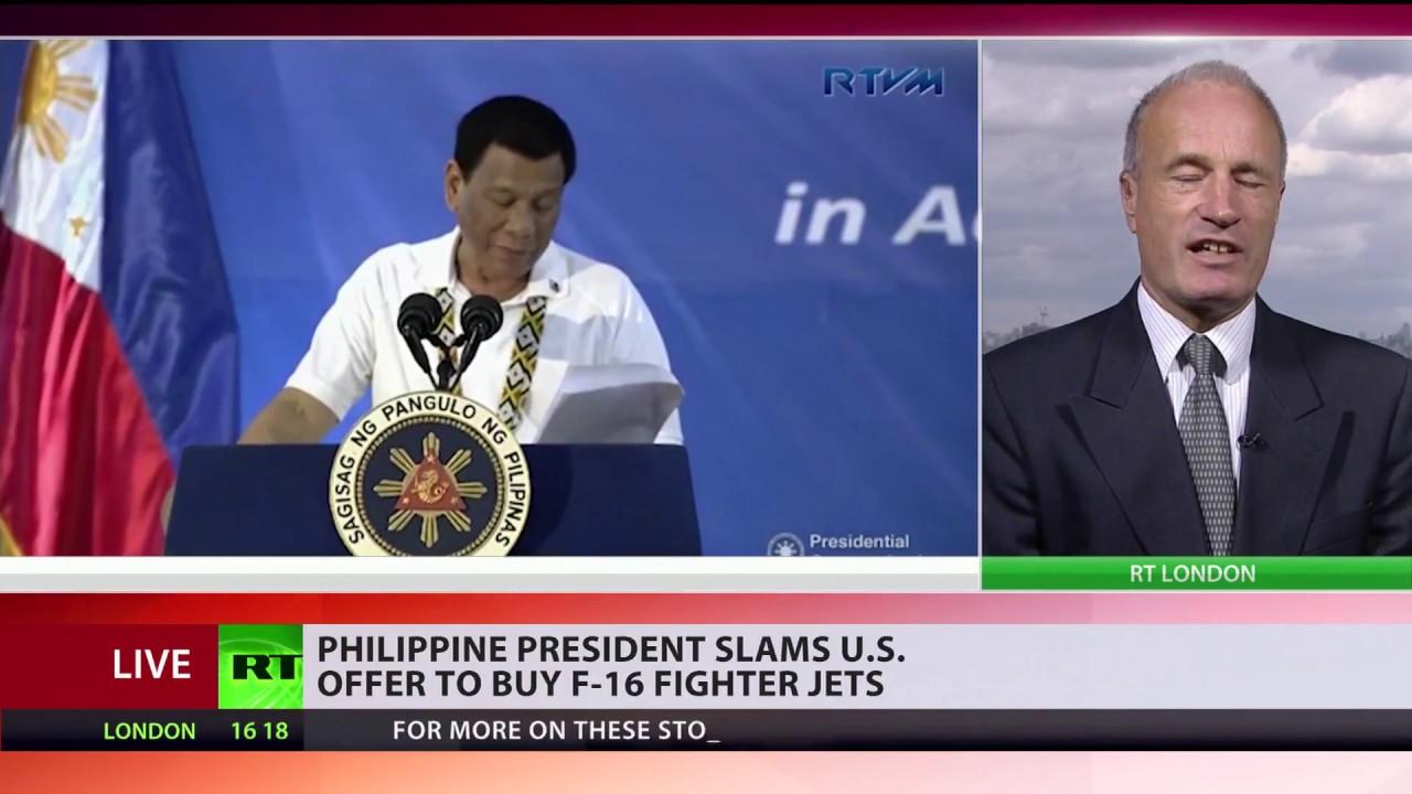 Duterte dismisses an offer to buy 'utterly useless' F-16 fighter jets