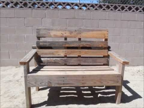 Pallet Bench Simple To Build Youtube