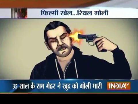 media man shoots himself on britains got talent