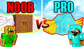 NOOB VS PRO MEGA FLIEGENDES HAUS IN MINECRAFT?!