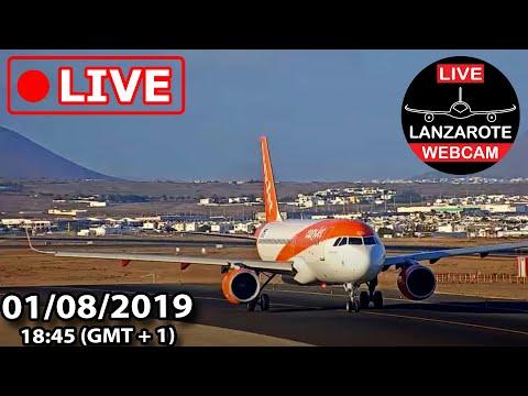 Lanzarote Webcam -  01/08/2019 Live event from Lanzarote Airport - Part I