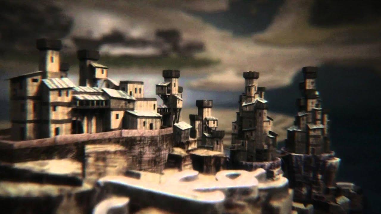 Game Of Thrones Map Intro Season 1 4 Youtube