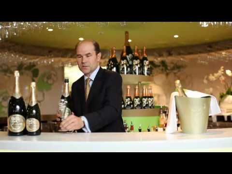 G.H.Mumm and Perrier-Jouet How to open a bottle of Champagne.