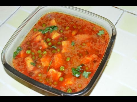 Muttar Paneer(green peas with cottage paneer) by  chef shaheen