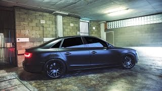 Shock Mansion x Five Three Designs - Murdered out father and son Audi Satin Wrap!