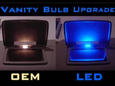 LEDbulbz: Chrysler 300c/300-How to install BLUE Visor/vanity LED bulbs video