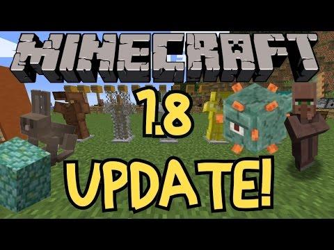 Minecraft 1.8 Update Overview!  NEW BOSS!  NEW MOBS, BLOCKS AND KILLER RABBIT!